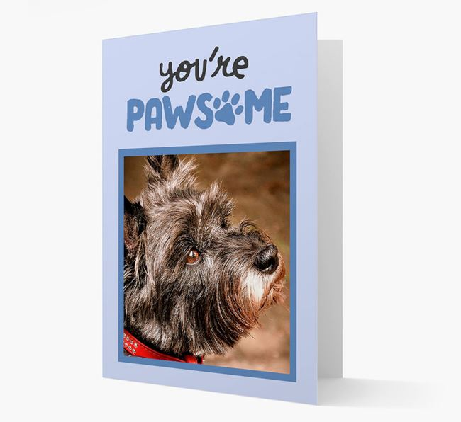 'You're Pawsome' - Cairn Terrier Photo Upload Card