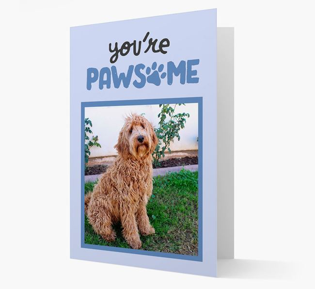 'You're Pawsome' - Labradoodle Photo Upload Card
