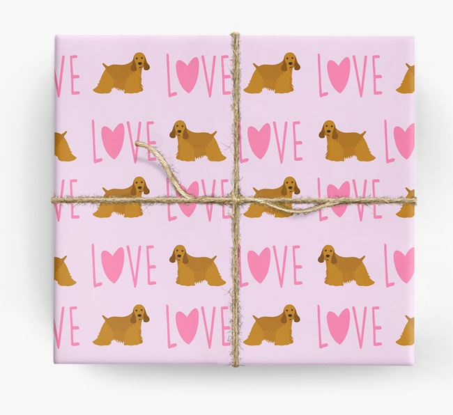 'Love' - Personalised American Cocker Spaniel Wrapping Paper