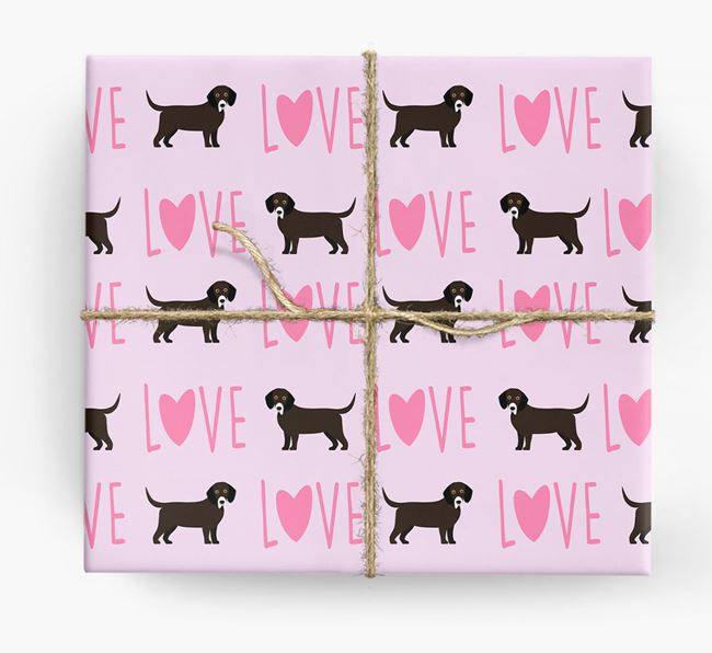 'Love' - Personalised Bassador Wrapping Paper