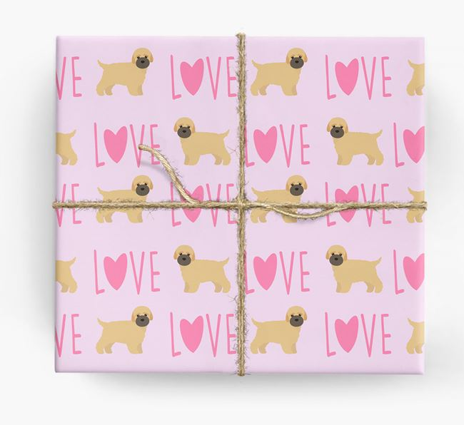 'Love' - Personalized Bich-poo Wrapping Paper