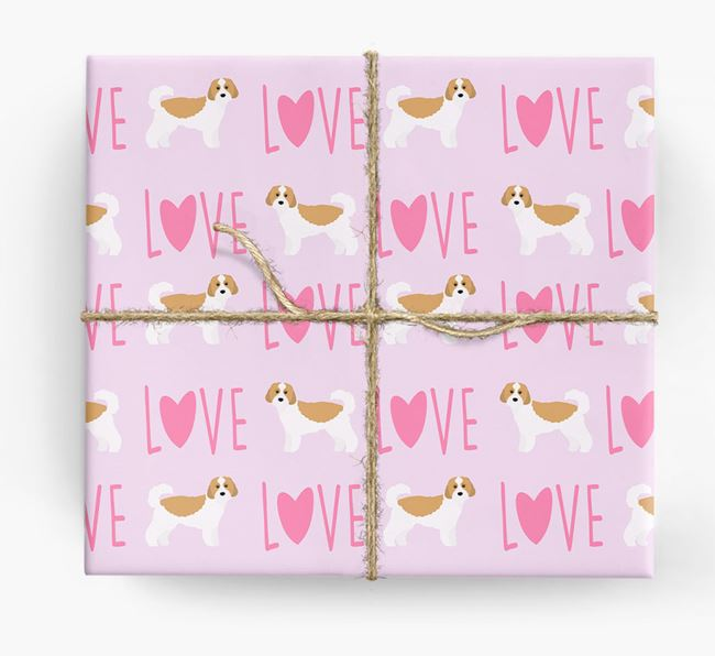 'Love' - Personalized Cavachon Wrapping Paper
