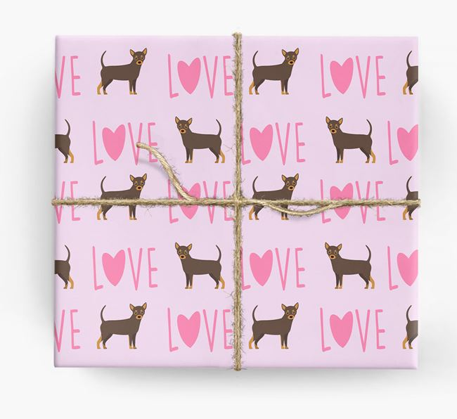 'Love' - Personalised Chihuahua Wrapping Paper