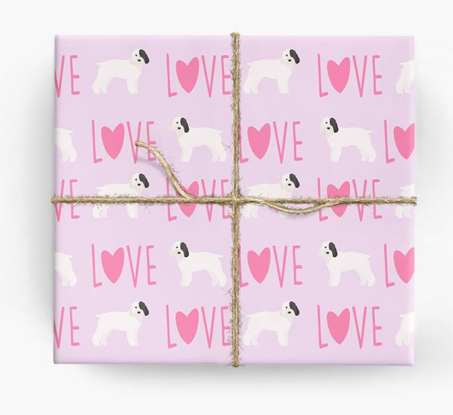 'Love' - Personalized Cockapoo Wrapping Paper