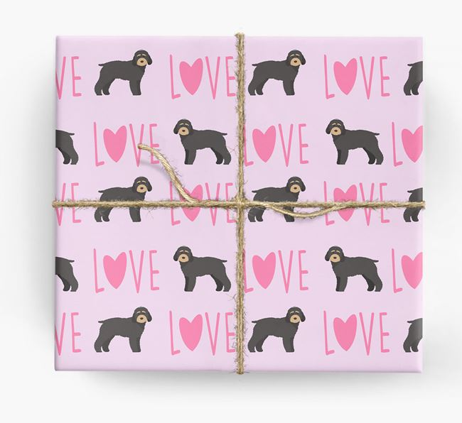 'Love' - Personalised Cockapoo Wrapping Paper