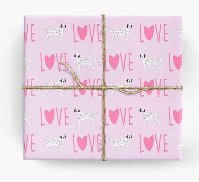 'Love' - Personalized English Setter Wrapping Paper