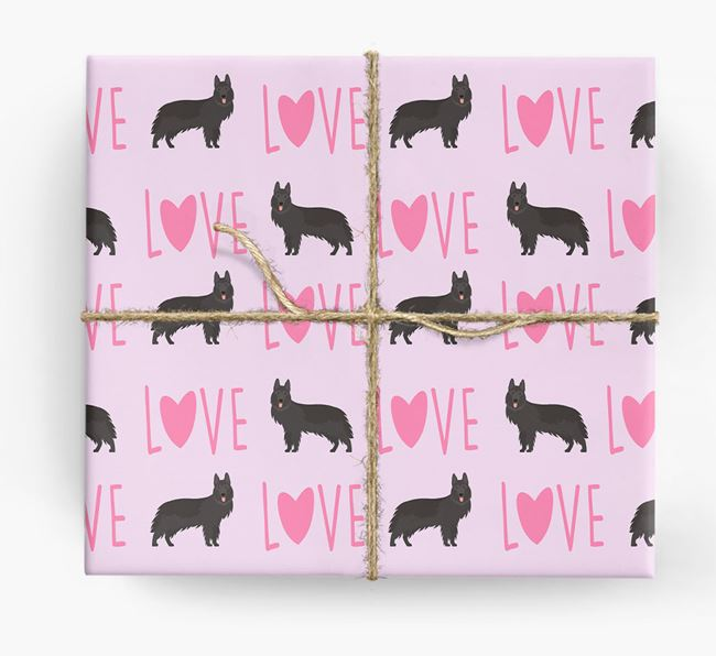 'Love' - Personalized German Shepherd Wrapping Paper