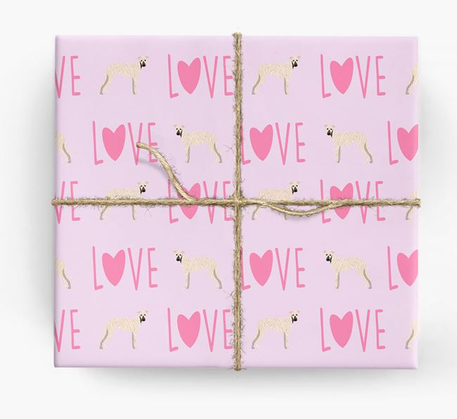 'Love' - Personalized Greyhound Wrapping Paper
