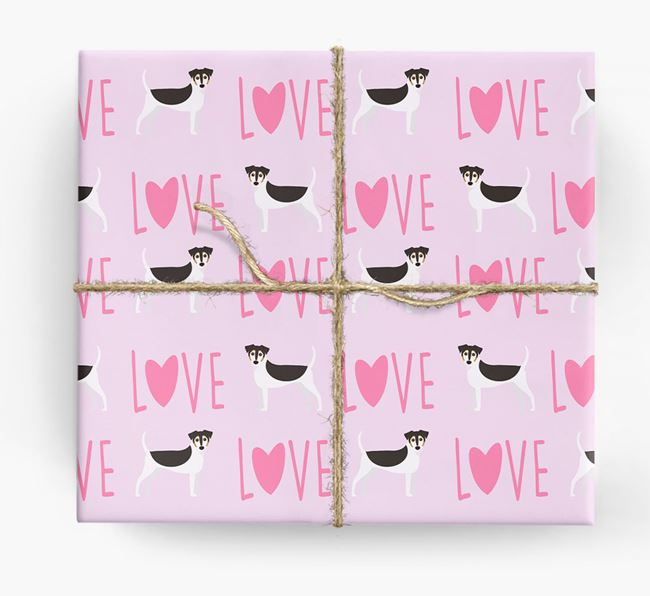 'Love' - Personalized Jack Russell Terrier Wrapping Paper