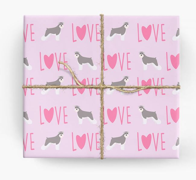 'Love' - Personalised Schnauzer Wrapping Paper