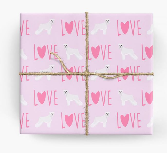 'Love' - Personalized Schnauzer Wrapping Paper