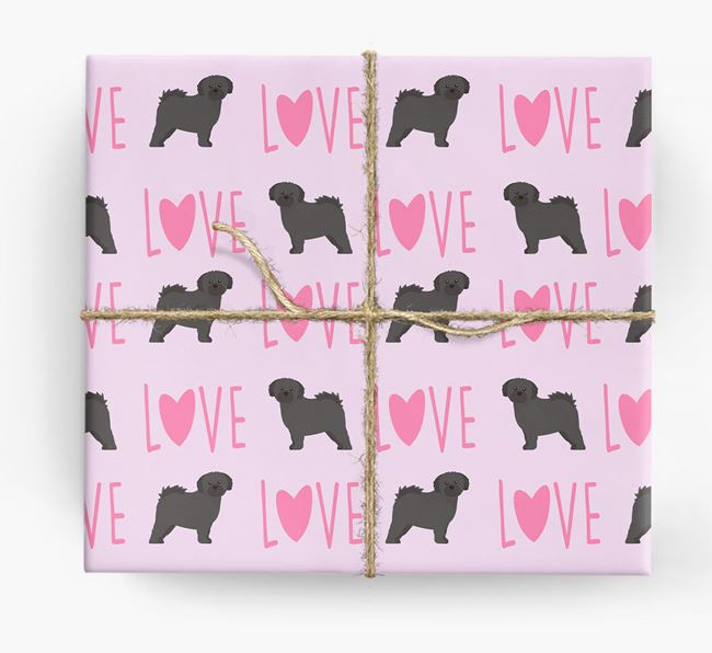 'Love' - Personalised Shih Tzu Wrapping Paper