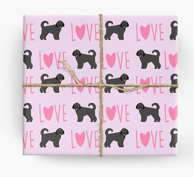 'Love' - Personalised Dog Wrapping Paper
