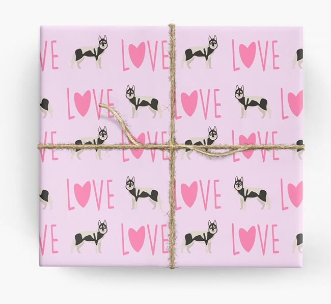'Love' - Personalised Tamaskan Wrapping Paper