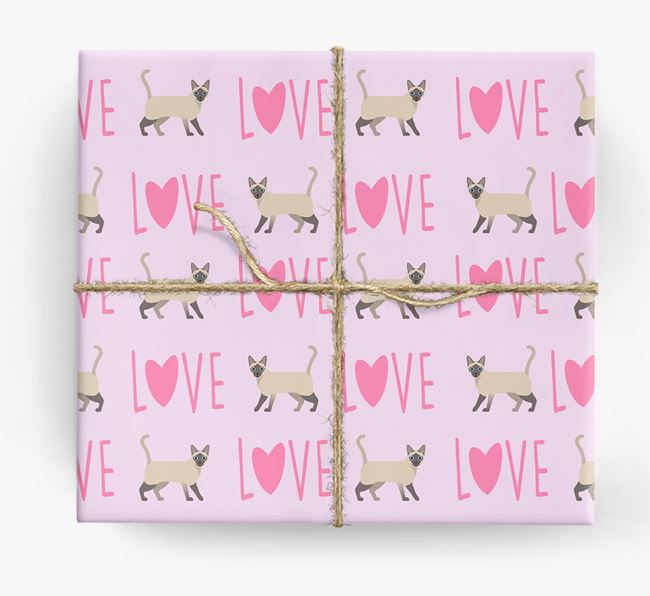 'Love' - Personalized Siamese Wrapping Paper