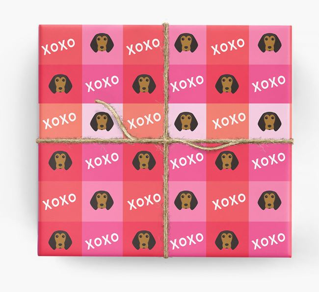'XOXO' - Personalised Beagle Wrapping Paper