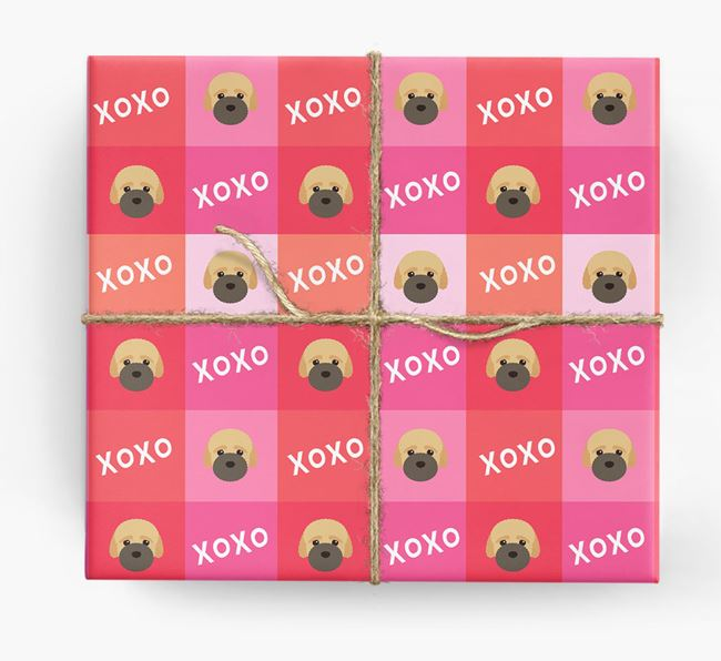 'XOXO' - Personalized Bich-poo Wrapping Paper