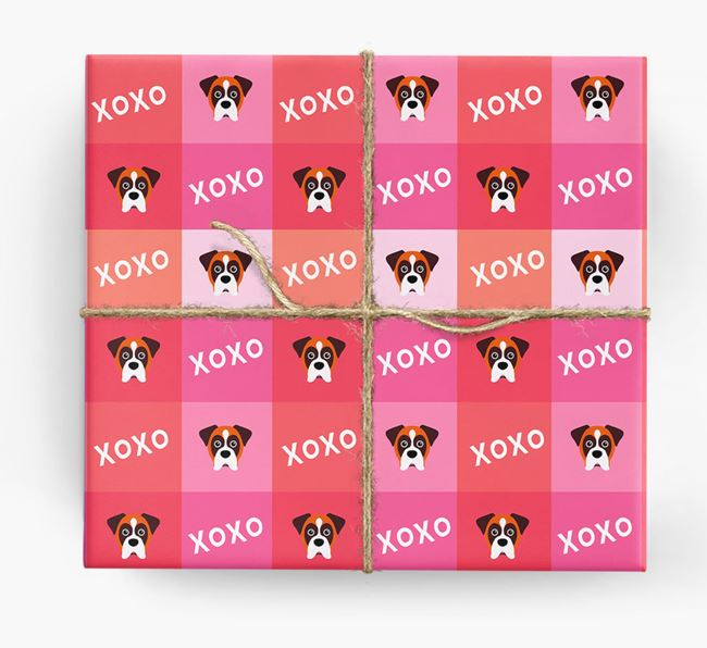 'XOXO' - Personalized Dog Wrapping Paper