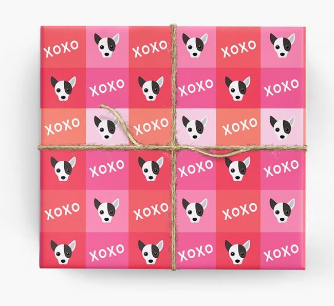 'XOXO' - Personalized Jackahuahua Wrapping Paper