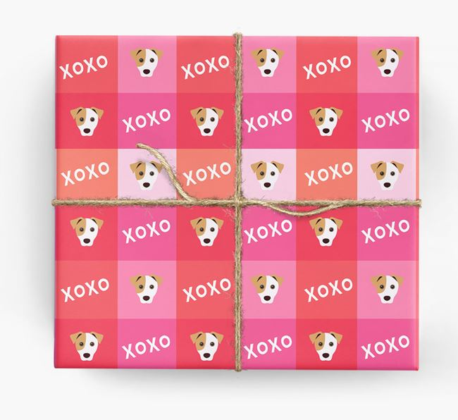 'XOXO' - Personalized Jack Russell Terrier Wrapping Paper