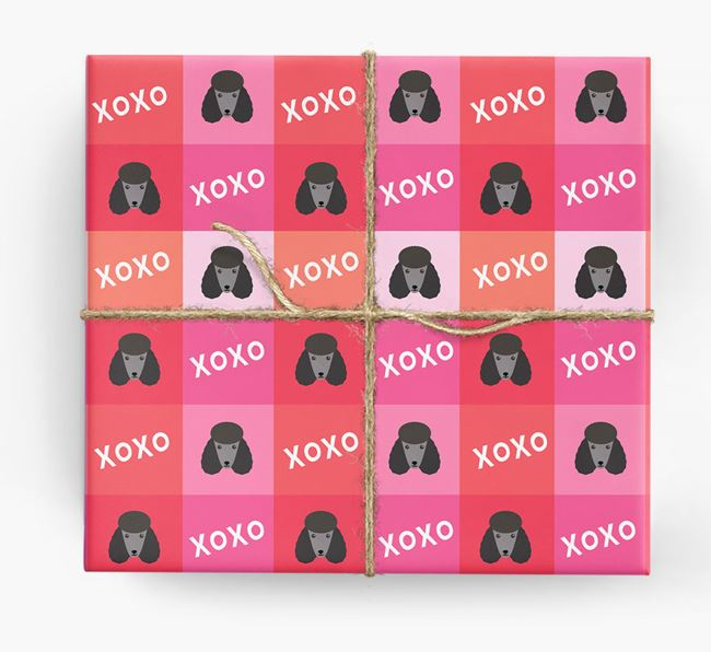 'XOXO' - Personalised Poodle Wrapping Paper