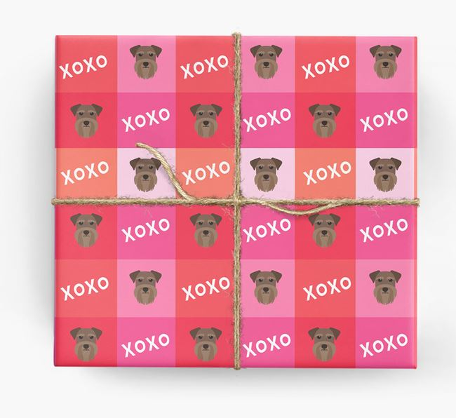 'XOXO' - Personalised Schnauzer Wrapping Paper