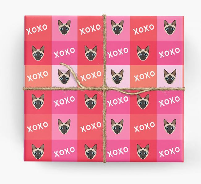'XOXO' - Personalised Siamese Wrapping Paper