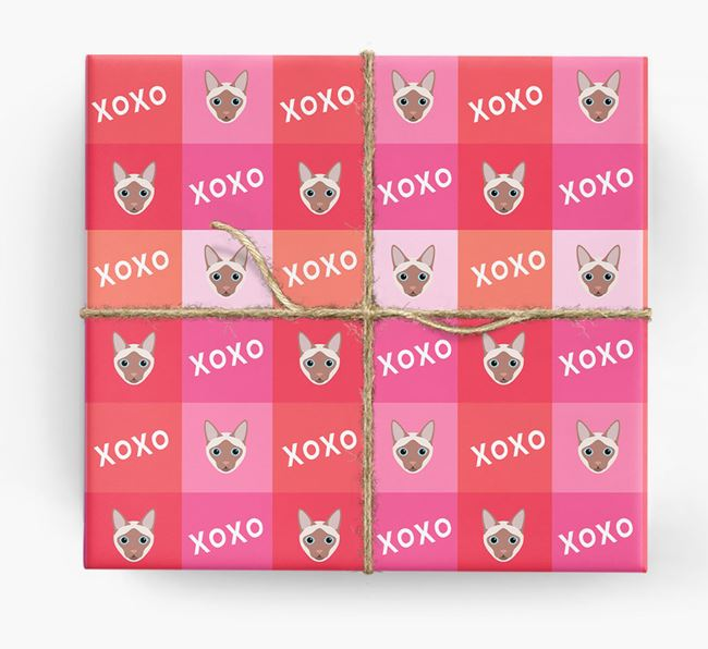 'XOXO' - Personalized Siamese Wrapping Paper