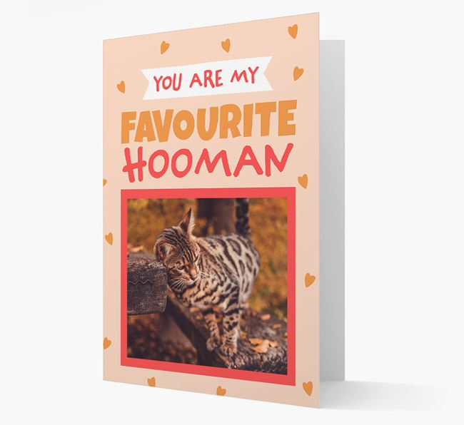 'Favourite Hooman' - Personalised Bengal Card