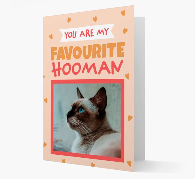 'Favourite Hooman' - Personalised Siamese Card