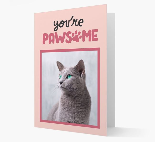 'You're Pawsome' - Cat Photo Upload Card