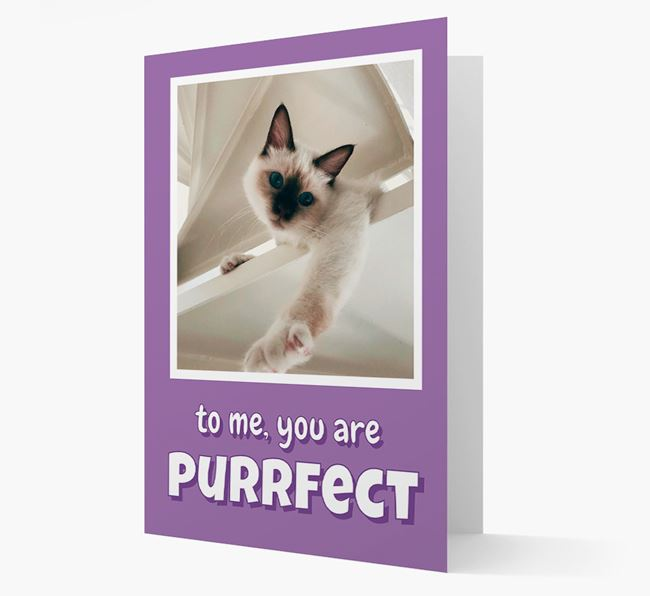 'You Are Purrfect' - Cat Photo Upload Card