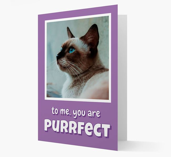 'You Are Purrfect' - Personalised Siamese Card