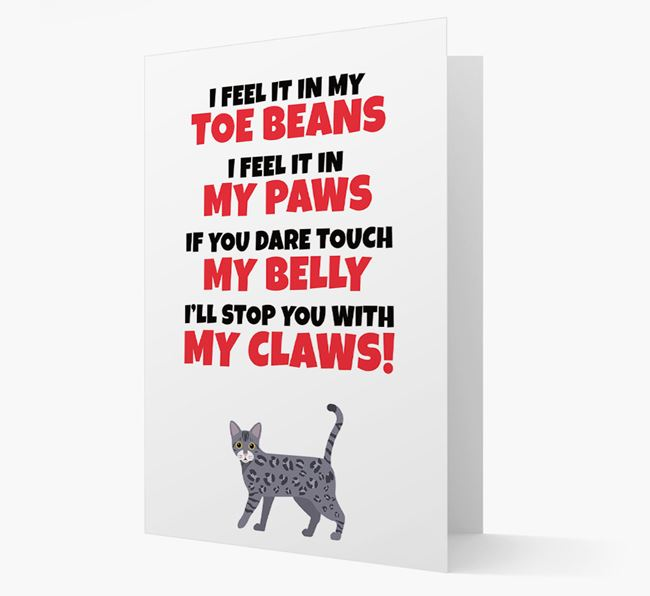 'I feel it in my...' - Personalised Bengal Card