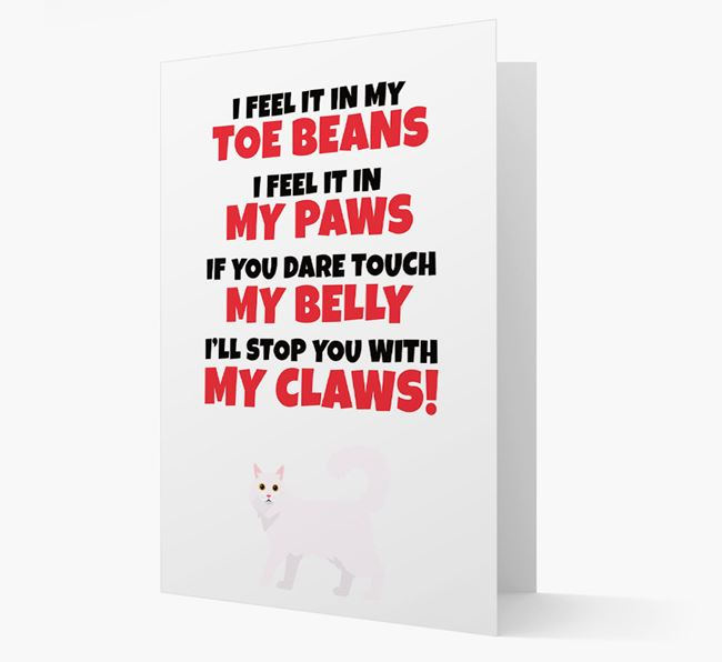 'I feel it in my...' - Personalised Cat Card