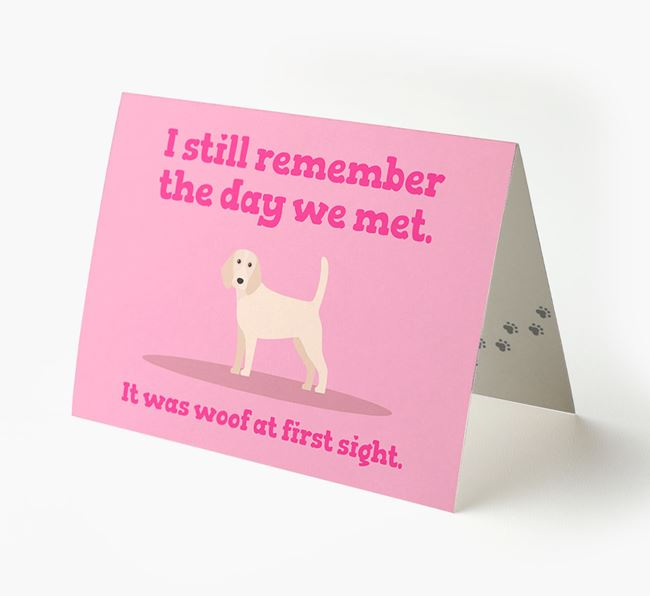 'The Day We Met' - Personalised Beagle Card
