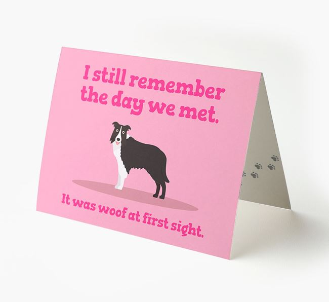 'The Day We Met' - Personalised Dog Card