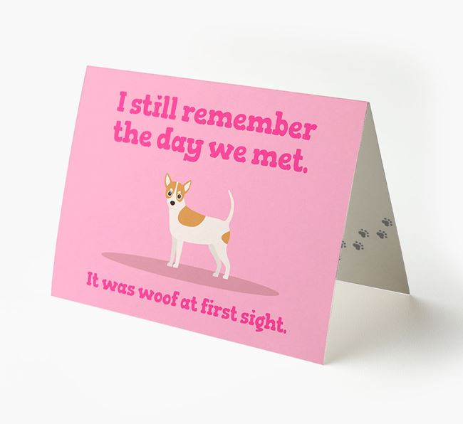 'The Day We Met' - Personalized Chihuahua Card