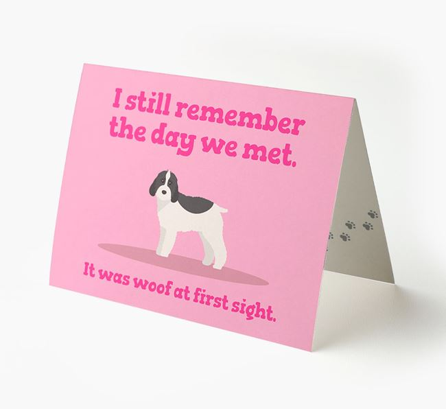 'The Day We Met' - Personalized Cockapoo Card