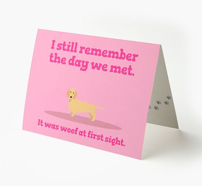 'The Day We Met' - Personalized Dachshund Card