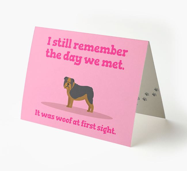 'The Day We Met' - Personalized English Bulldog Card