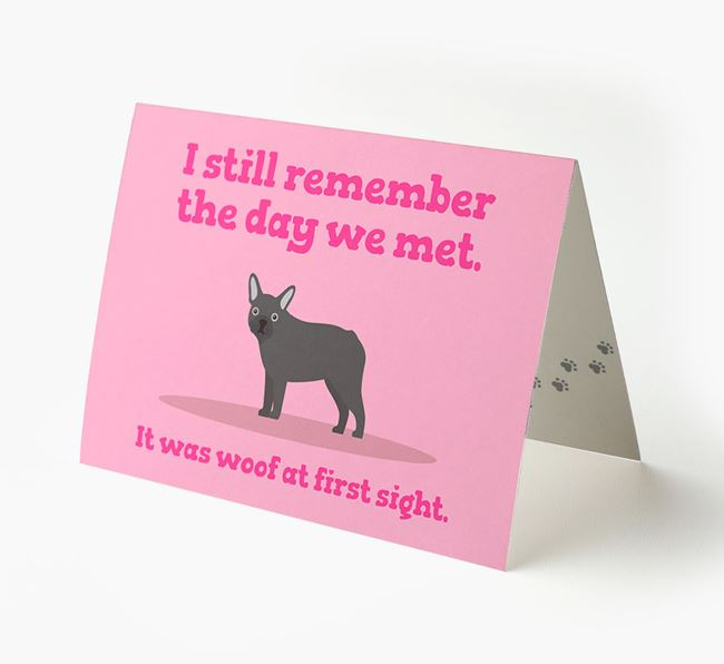'The Day We Met' - Personalized French Bulldog Card