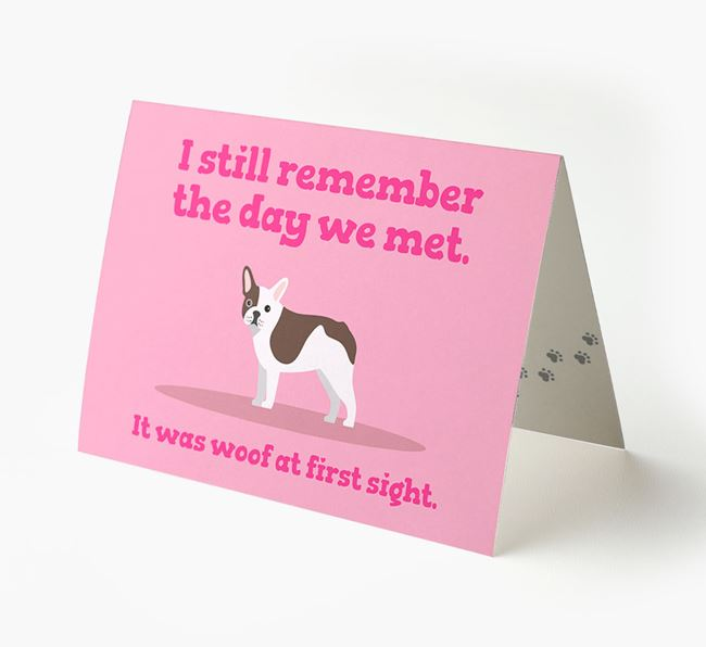 'The Day We Met' - Personalised French Bulldog Card