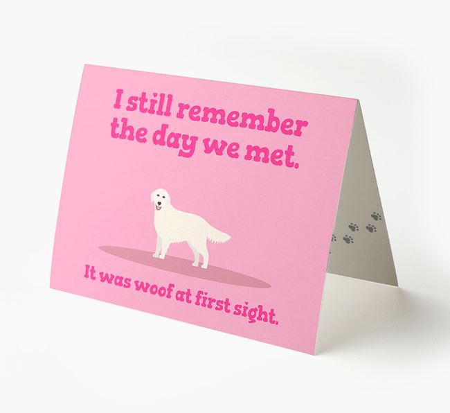 'The Day We Met' - Personalised Golden Retriever Card