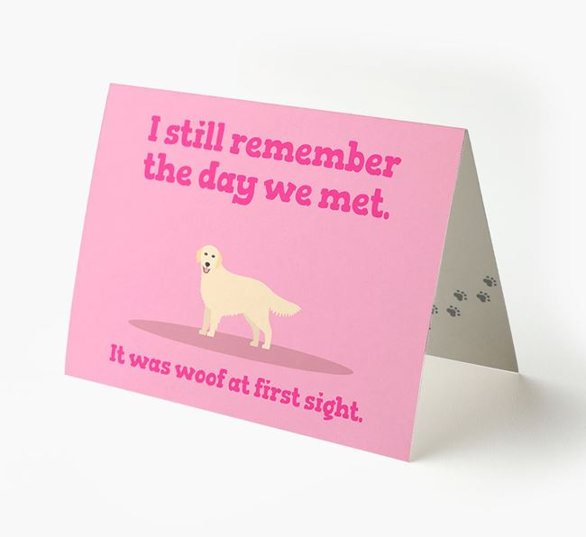 'The Day We Met' - Personalized Golden Retriever Card
