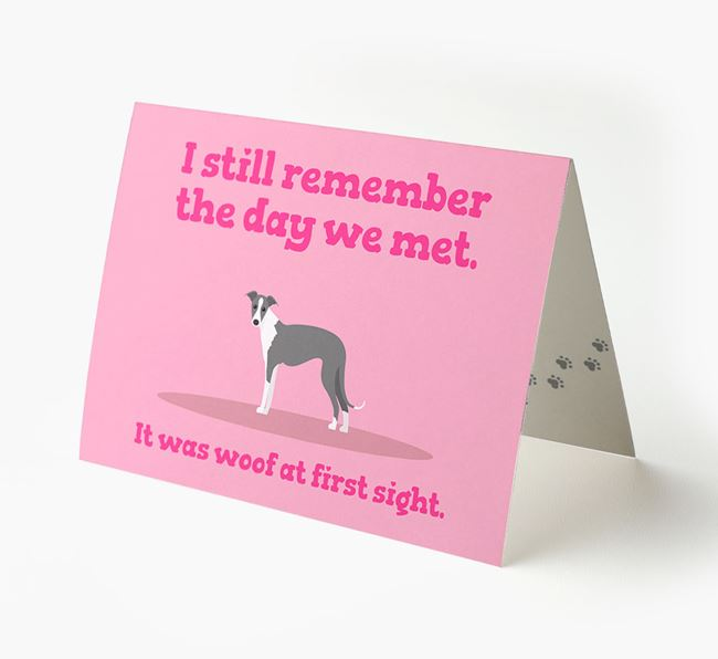 'The Day We Met' - Personalised Greyhound Card