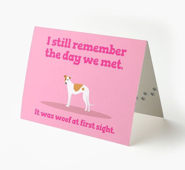'The Day We Met' - Personalized Greyhound Card