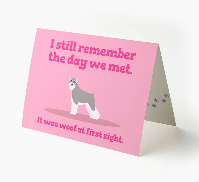 'The Day We Met' - Personalized Schnauzer Card