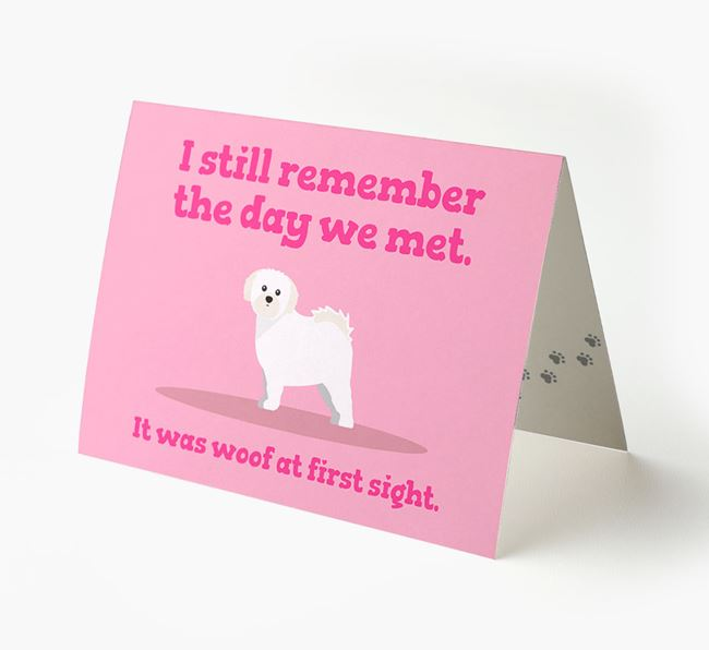 'The Day We Met' - Personalized Shih Tzu Card