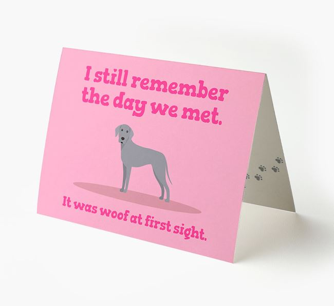 'The Day We Met' - Personalized Dog Card
